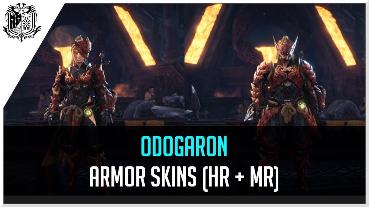 monster hunter world odogaron armor male