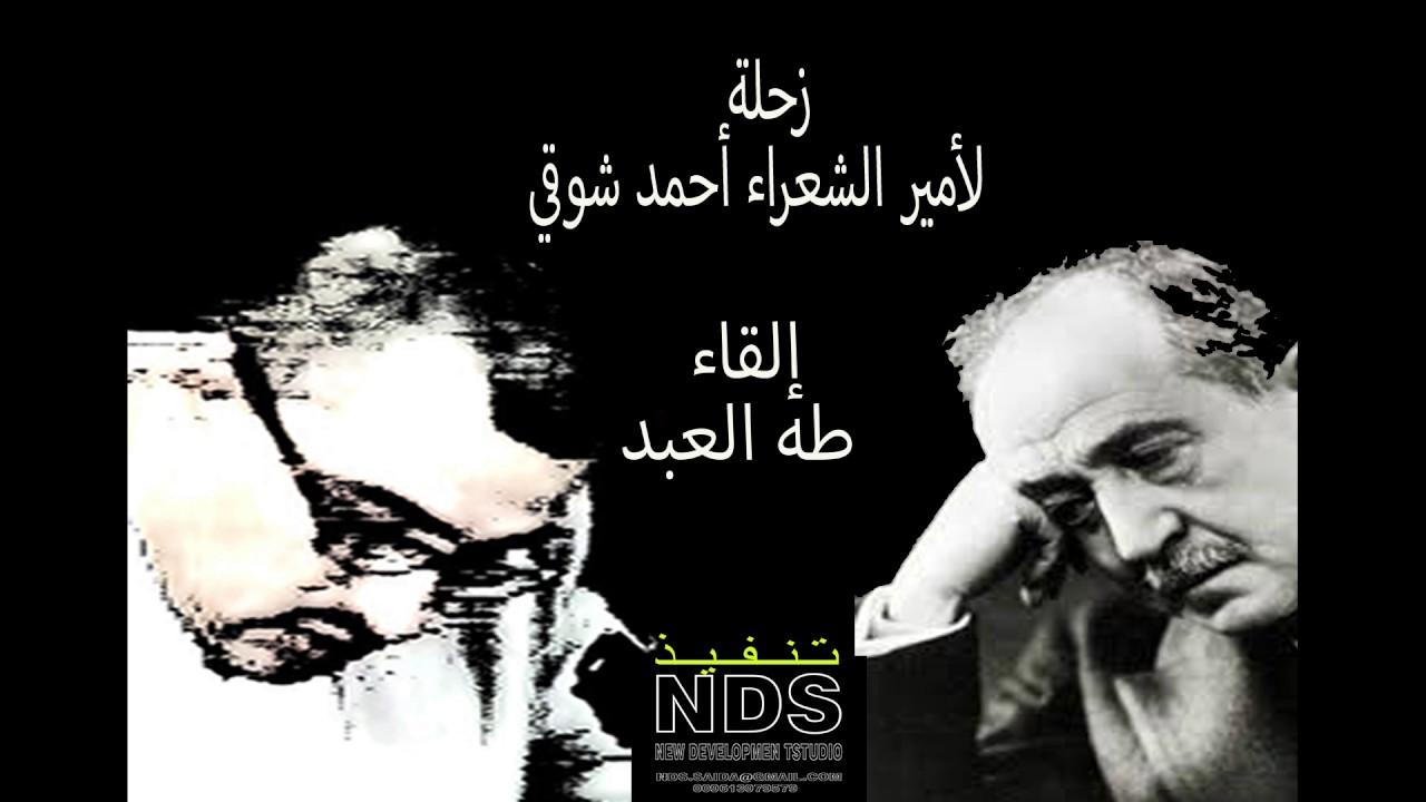 نتيجة بحث الصور عن شرح قصيدة زحلة للشاعر احمد شوقي