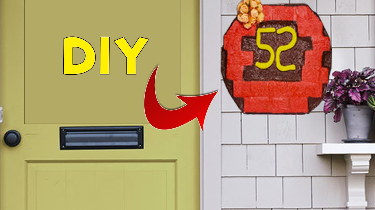 3 minute crafts diy homemade address plate from for Home decor 5 minute crafts