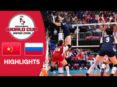 CHINA Vs. RUSSIA - Highlights   Women's Volleyball World Cup 2019