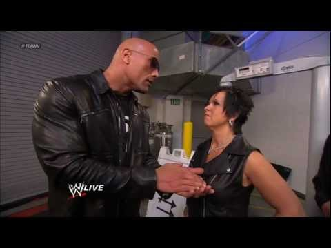 Vickie Guerrero confronts The Rock outside the HP Pavilion: Raw, Jan 21, 2013