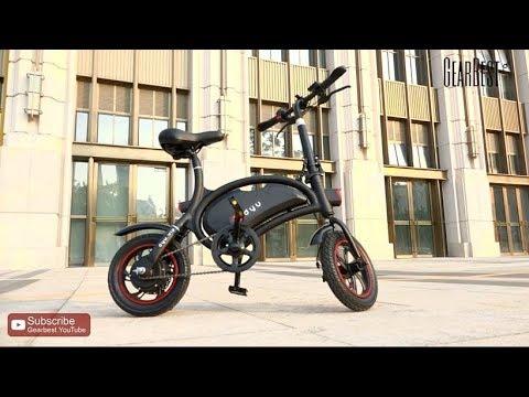 0d7b56feac3 F - wheel DYU D2 Folding Electric Bike - Gearbest.com - YouTube