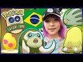 SHINY CHECKED!! BRAZIL POKÉMON GO ADVENTURE DAY 1!