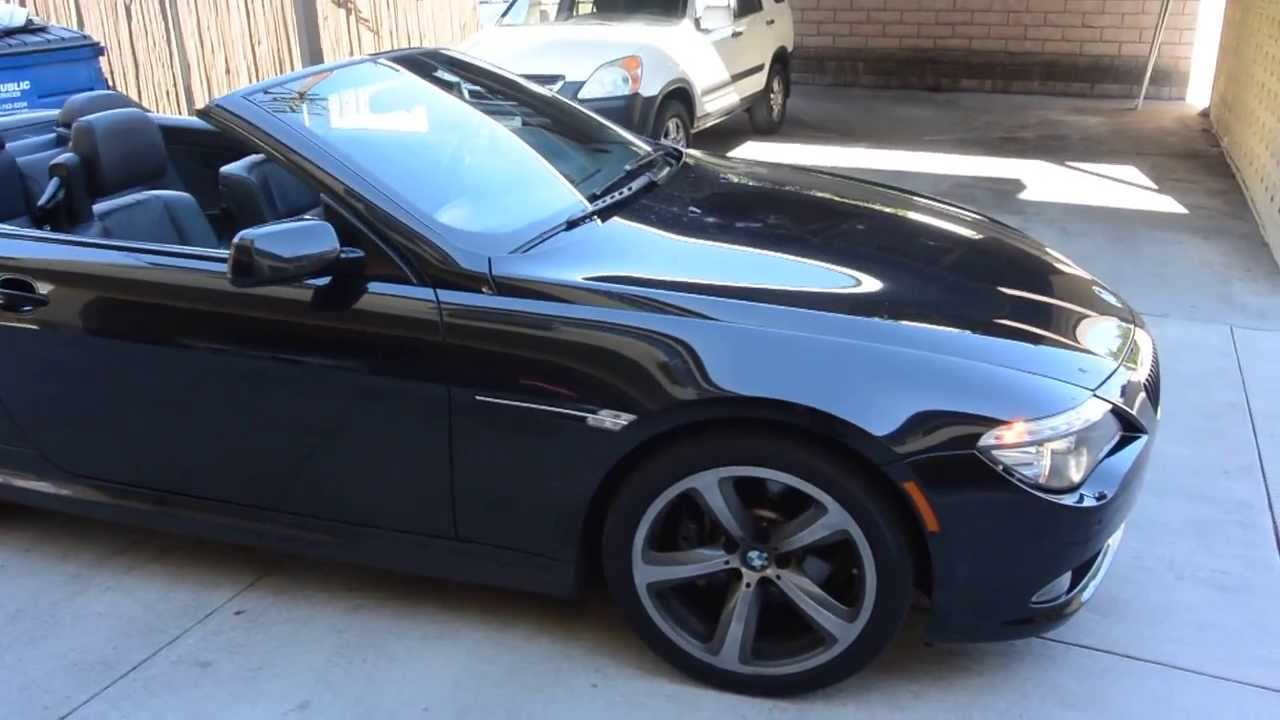 2008 bmw 650i black on black convertible youtube. Black Bedroom Furniture Sets. Home Design Ideas