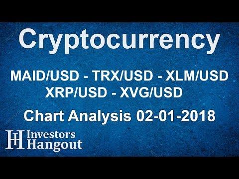 MAID/USD TRX/USD XLM/USD XRP/USD XVG/USD - Chart Analysis 02-01-2018