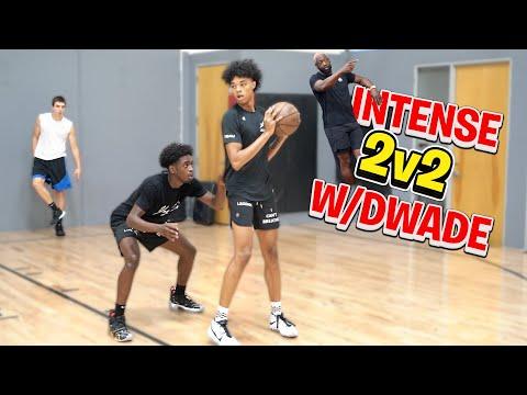 Cassius Stanley & Brandon Boston *Intense* NBA 2v2 With D Wade
