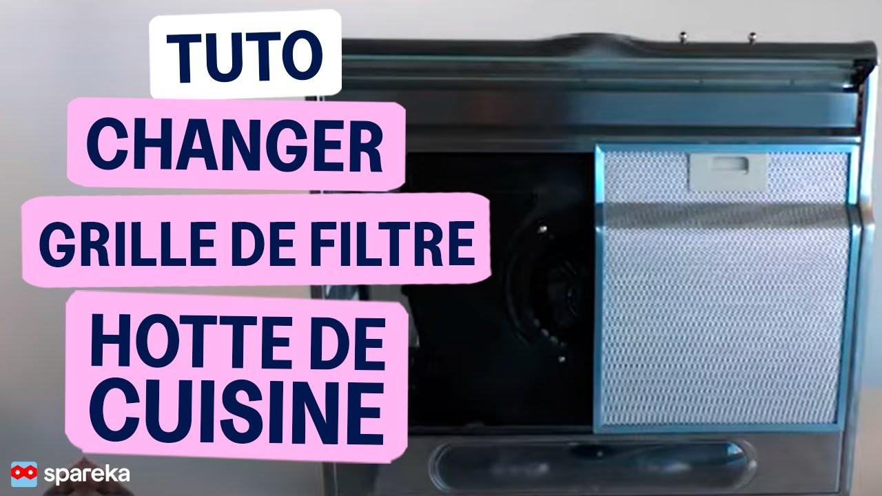 remplacer le filtre metallique de votre hotte de cuisine