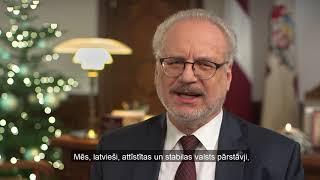 Valsts prezidenta Egila Levita uzruna Vecgada vakarā (ar titriem)