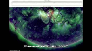 SOLAR ACTIVITY UPDATE: Almost X-Flare as AR1515 Erupted with an M5.6 Blast(July 2nd, 2012).