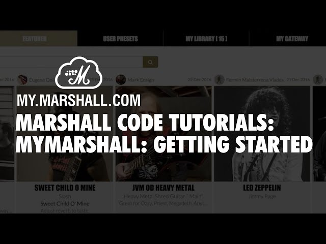 Marshall CODE Tutorials: MyMarshall - Getting Started