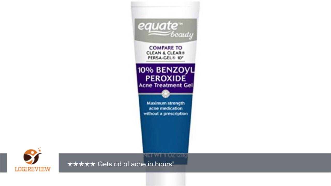 Equate 10 Benzoyl Peroxide Acne Treatment Gel 1oz Compare To