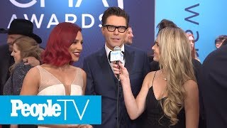 Bobby Bones & Sharna Burgess On How DWTS Is 'Like A Three Month Marriage' | CMAs 2018 | PeopleTV
