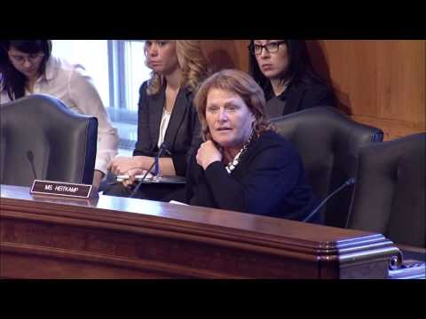 Heitkamp Discusses Early Childhood Education at a Senate Committee on Indian Affairs Hearing