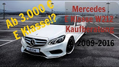 Mercedes E Klasse W212 Kaufberatung | Das solltest du vor dem Kauf wissen! | G Performance