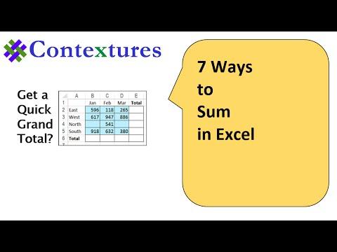 7 Ways To Sum In Excel