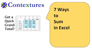 7 Ways to Sum in Excel