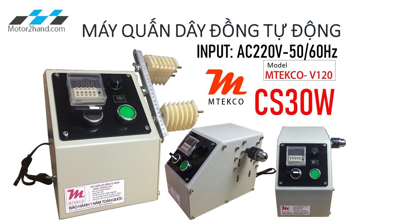 Máy quấn dây đồng bán tự động Mtekco-V120|0941300023- Motor2hand.com