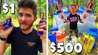 $1 VS $500 BATTLE ROYALE! *Budget Challenge* Ft. MoreJstu