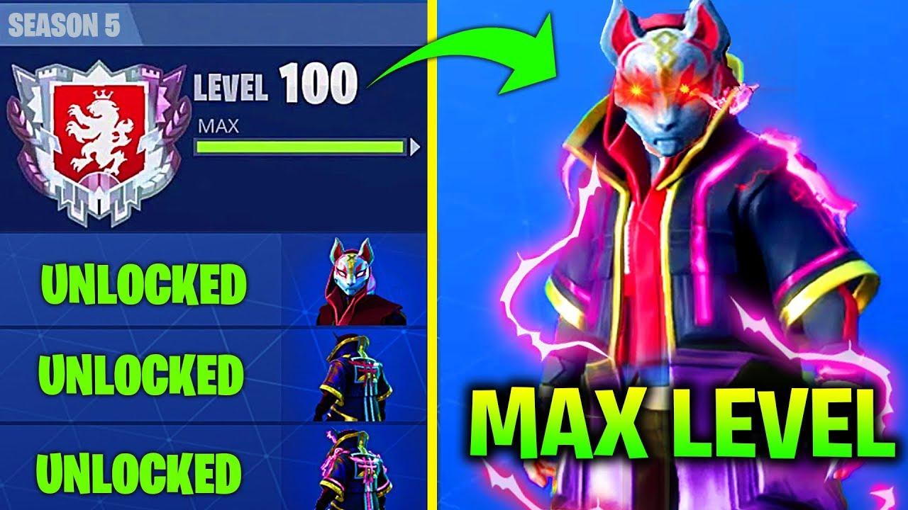 fastest way to unlock max level drift in fortnite season 5 how to unlock max level dirft armor - max drift fortnite level
