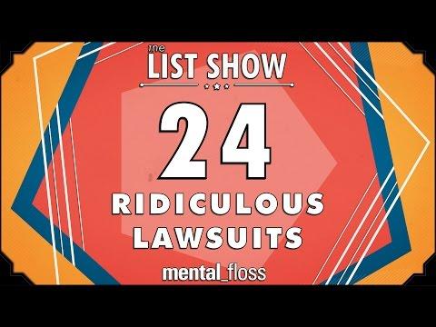 24 Ridiculous Lawsuits - mental_floss List Show Ep. 331