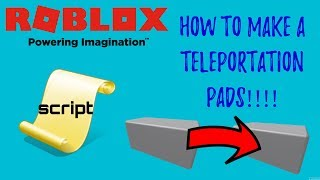 How To Make A Teleportation Pad In Roblox Studio | Roblox Scripting Tutorial