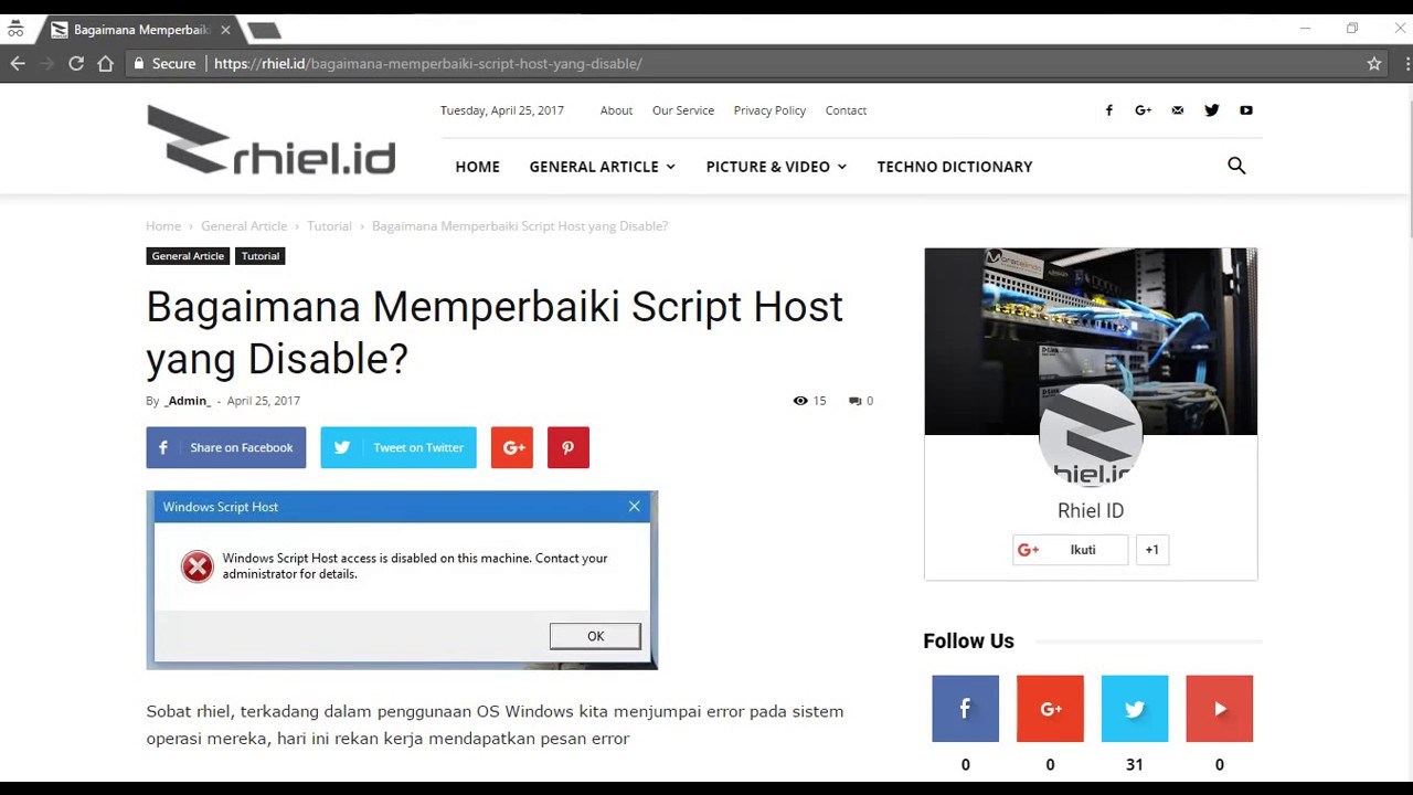 How to Fix Windows Script Host access is disable