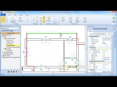 Edificius Tutorial - Editing horizontal building envelope entities - ACCA software