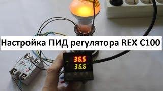 Настройка ПИД регулятора REX C100 для инкубатора