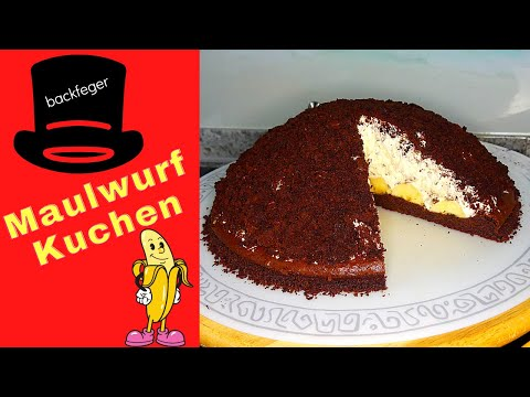 maulwurfkuchen-aus-dinkelmehl-//-maulwurfkuchen-mit-bananen-//-bananenkuchen-2020-//-yummy