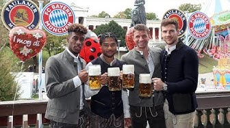 FC Bayern Players arrive at famous Oktoberfest!