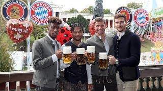 FC Bayern Players arrive at famous Oktoberfest!