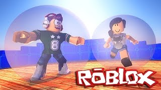 Roblox - Viramos bolas humanas (ft. Junior) (Super Blocky Ball)