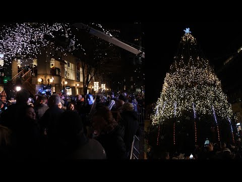 Faneuil Hall Tree Lighting Spectacular 2017 - Panasonic GH5 + 12-35mm f/2.8 II lens - 4K 60p
