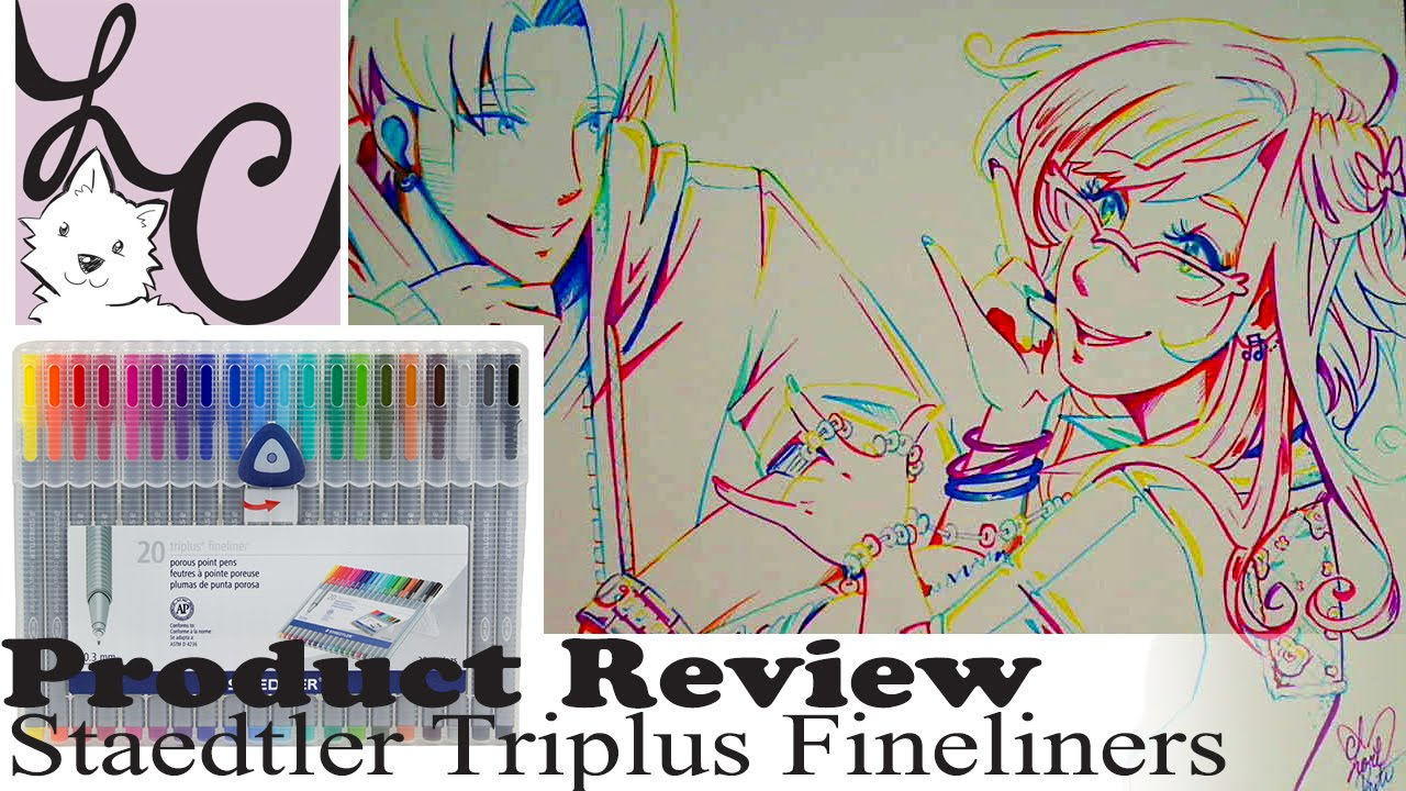 Color drawing pens for artists - Art Supply Product Review Staedtler 20 Triplus Fineliners Piper Boyfriend Rainbow Line Art Youtube