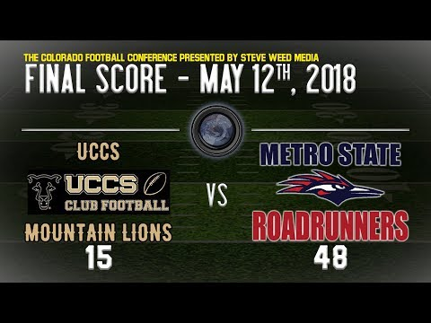WEEK 2: UCCS Mountain Lions vs Metro Roadrunners: The Colorado Football Conference - Powered by S...