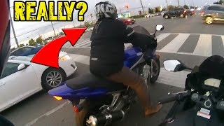 This Sportbike Rider Is A Douche Bag..