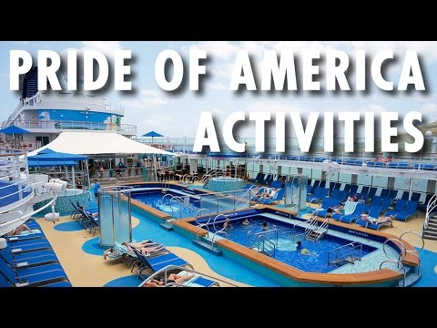 Pride of America Tour & Review: Activities ~ Norwegian Cruise Line ~ Cruise Ship Tour & Review