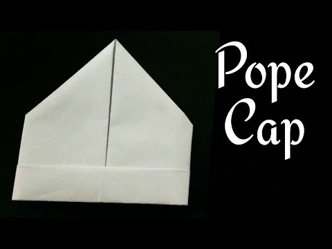 """Origami Paper """"Pope Cap"""" - A4 sheet !!"""