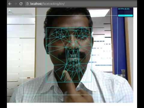 Face tracking Javascript + WebRTC API + OpenCV