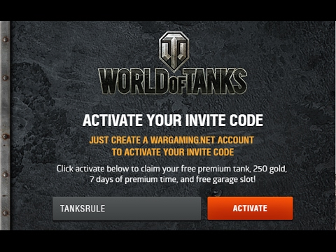 TANKS RULE Invite Code World of Tanks YouTube