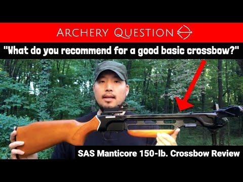 SAS Manticore 150-lb.  Crossbow Review | Archery Question