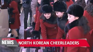 North Korean cheerleaders arrive in South Korea for PyeongChang Games
