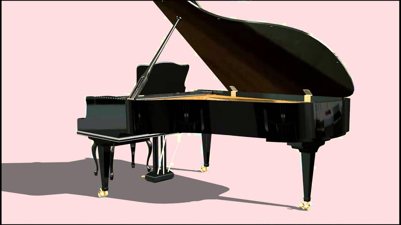 rendu 3d d 39 un piano queue youtube. Black Bedroom Furniture Sets. Home Design Ideas
