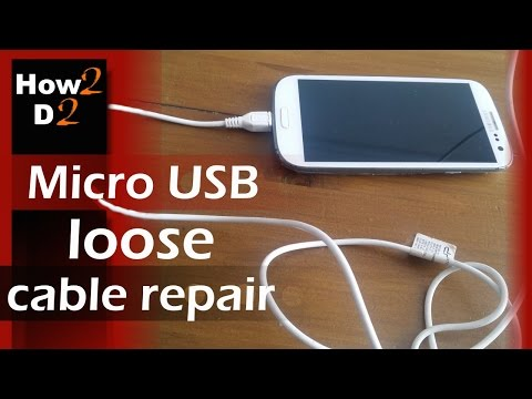 Mobile phone not charging  How to fix  Micro USB loose cable repair