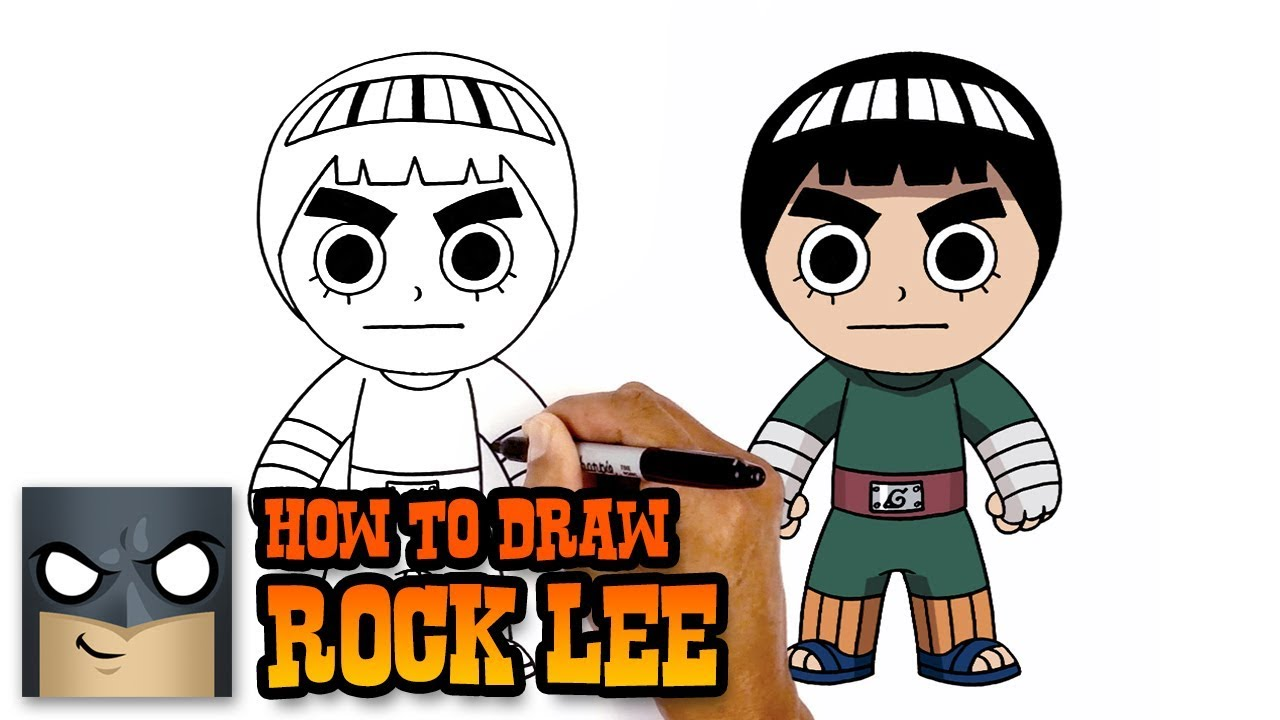 Naruto   How to Draw Rock Lee (Art Tutorial) - YouTube