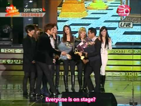ETN Entertainment News 2nd Korean Popular Culture Art Awards - SNSD Cut [2011.11.22] (en)