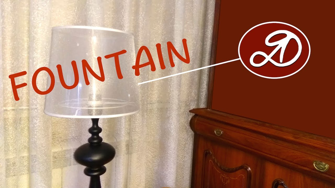 How to make a room fountain