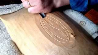 Carving A Leaf Design On A Bowl Bottom
