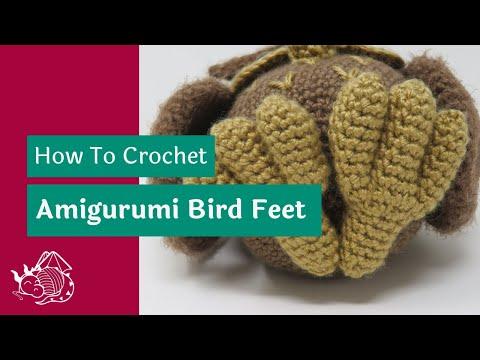 Hygge Owl Amigurumi Pattern - Foot Tutorial