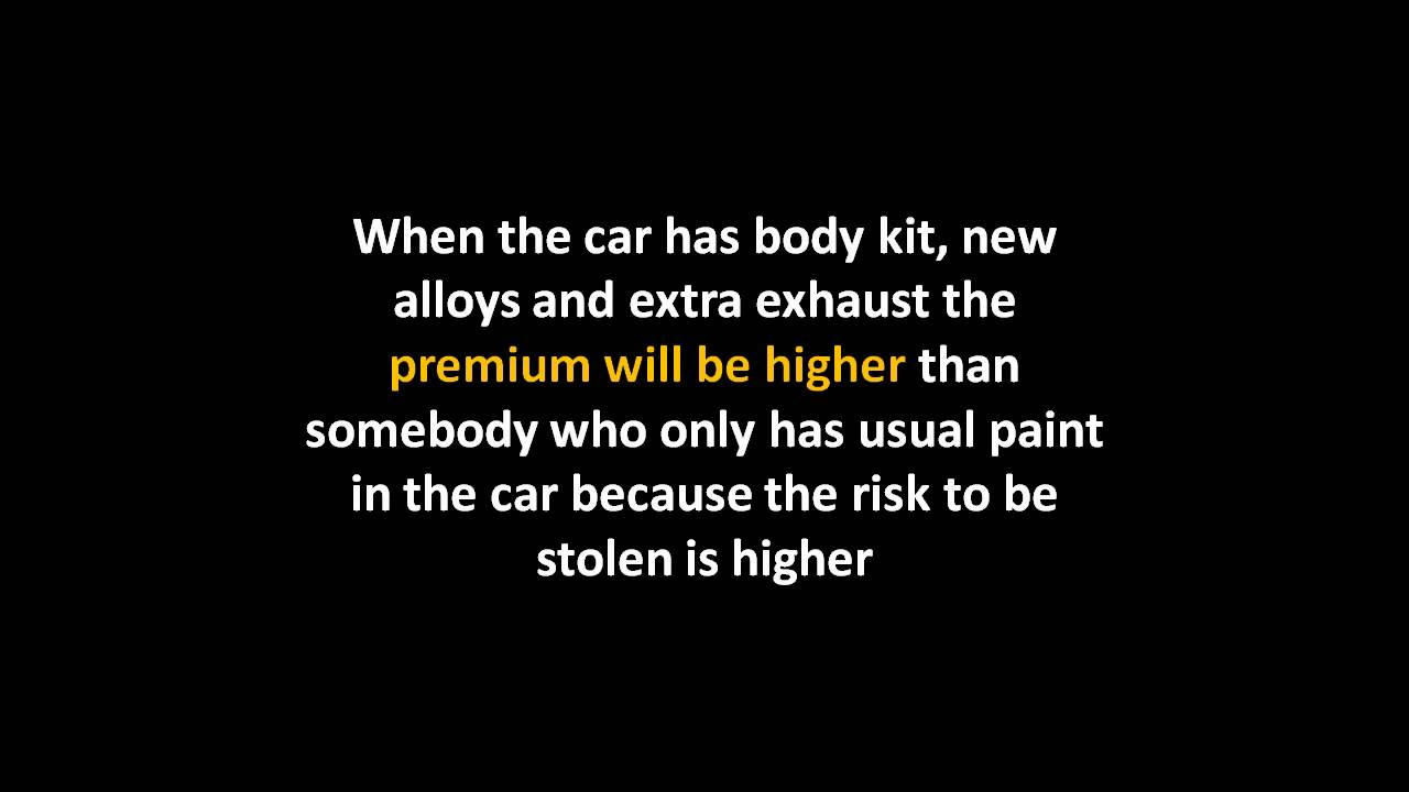 Car Insurance For Modified Cars - YouTube